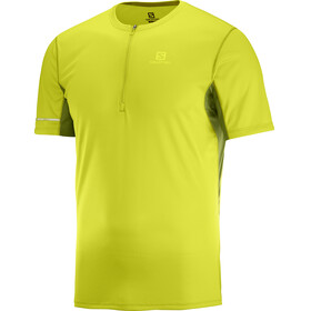 Salomon Agile Running T-shirt Men yellow